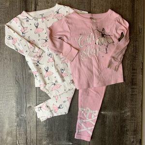 Ballerina pajamas 2 sets 18 months